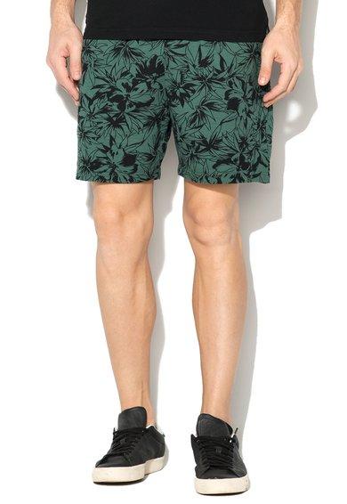 Pantaloni scurti verde de China cu frunze imprimate de la Franklin  Marshall