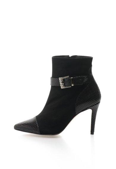 Ghete stiletto negre cu insertii de piele intoarsa de la Roberto Botella