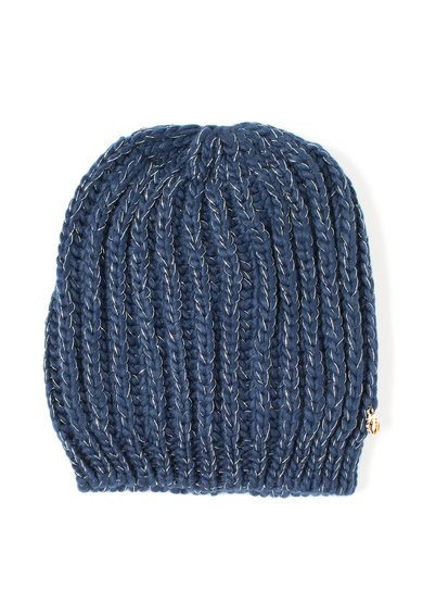 Caciula tricotata albastra de la Trussardi Jeans