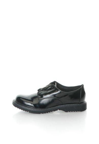 Pantofi negri cu fermoar Kenia de la Oakoui
