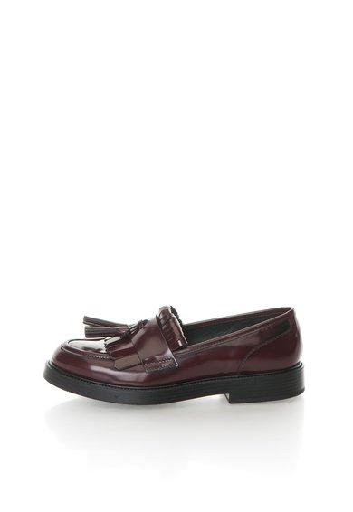 Pantofi loafer Bordeaux de piele Scudetto