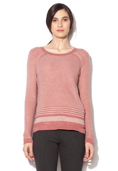 FashionDays.ro: Pulover roz somon cu alb in dungi EDC by ESPRIT