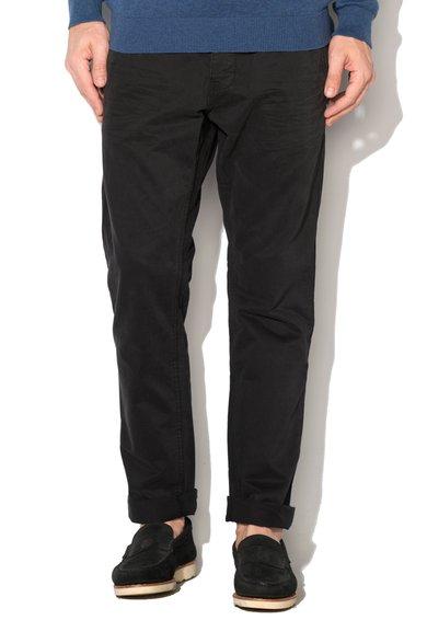 Pantaloni chino slim fit negri de la EDC by ESPRIT
