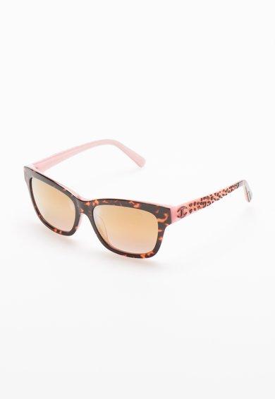 Ochelari de soare maro cu roz cu animal print de la Just Cavalli