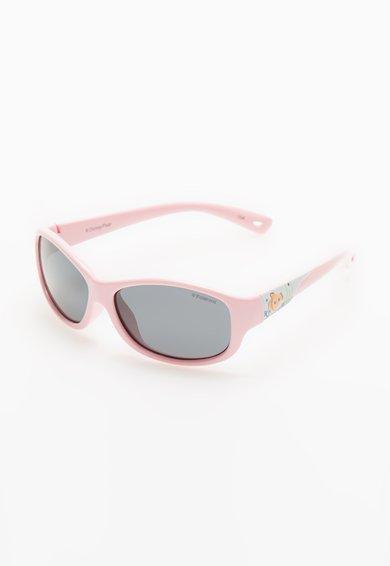 Ochelari de soare roz polarizati cu brate flexibile de la Polaroid