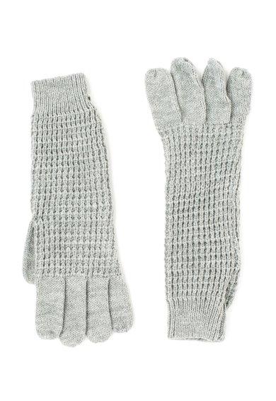 Manusi tricotate gri melange Loja de la Pepe Jeans London