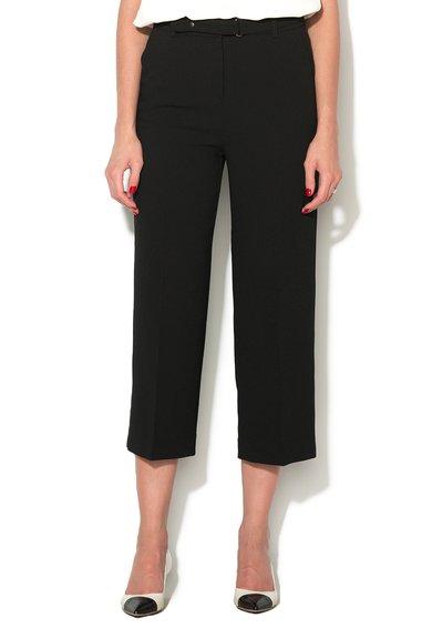 Pantaloni culotte negri cu o curea de la ESPRIT