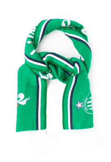 Fular verde cu imprimeu Asse St Ettienne