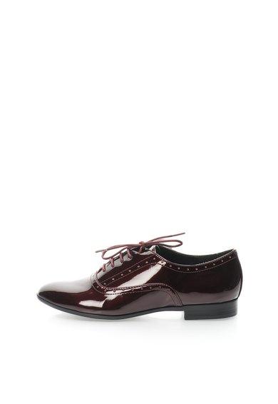 Pantofi Oxford rosu Bordeaux lacuiti Tapie de la Steve Madden