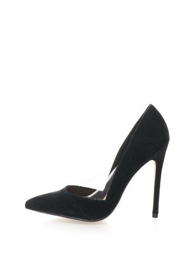 Pantofi negri stiletto de piele intoarsa Wileen de la Steve Madden