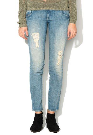 GAS Jeansi skinny albastri cu aspect deteriorat Sheyla