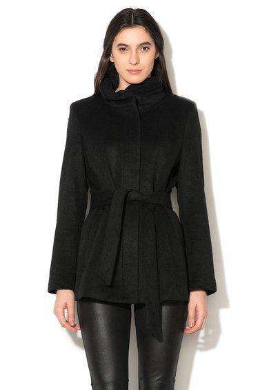 FashionDays.ro: Haina neagra cu pliuri pe guler ESPRIT