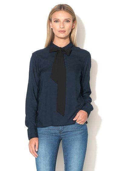 Bluza bleumarin cu panglica neagra detasabila de la Vero Moda