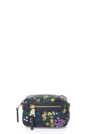 Juicy Couture Geanta crossbody albastru indigo inchis cu model floral