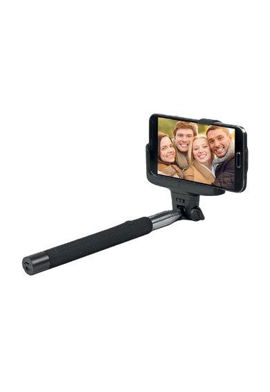 Jocca Selfie stick negru cu bluetooth