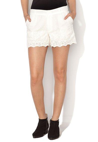 FashionDays.ro: Pantaloni scurti albi cu broderii Tundra Pepe Jeans London