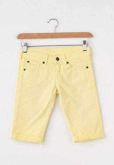 Jeansi crop galbeni Scarla de la Pepe Jeans London