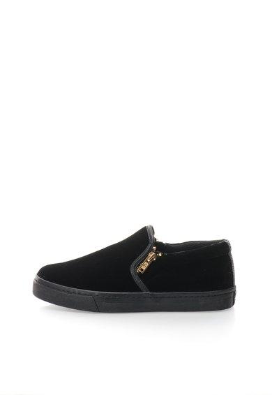 Pantofi slip-on negri catifelati Rolap de la Gioseppo