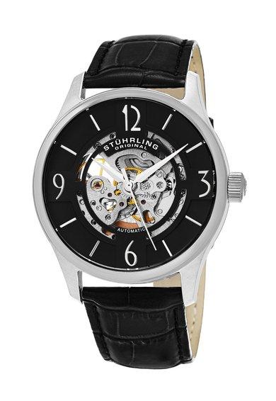 Ceas automatic negru cu argintiu