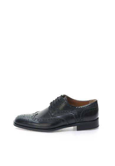 Pantofi brogue negri de piele de la Zee Lane Collection