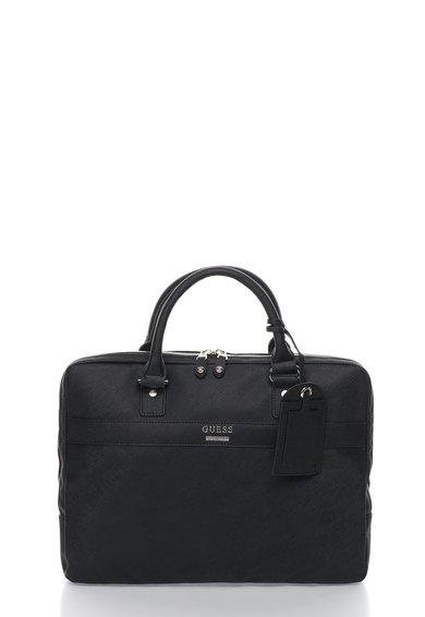 FashionDays.ro: Geanta neagra pentru laptop cu bareta detasabila GUESS