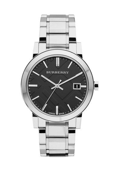 Ceas argintiu cu cadran negru