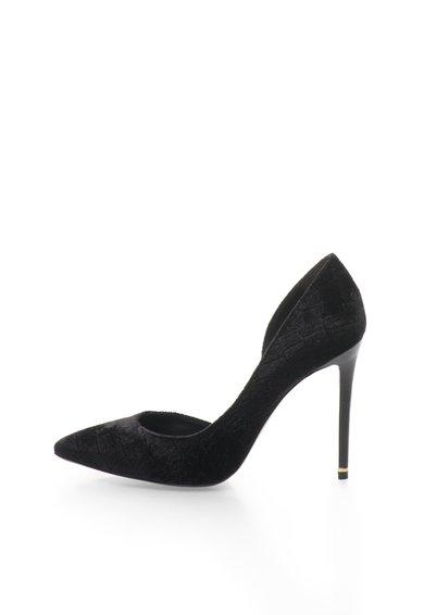 FashionDays.ro: Pantofi D'Orsay negri catifelati Tre Rachel Zoe