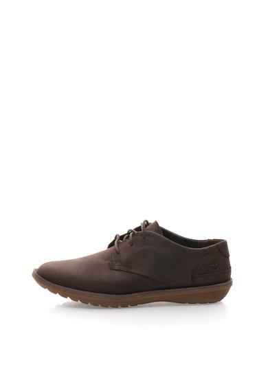 Pantofi maro cafea de piele nabuc de la Timberland
