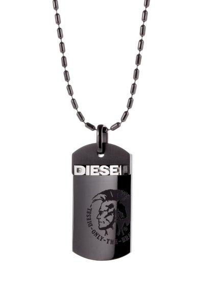 FashionDays.ro: Colier argintiu cu pandantiv dreptunghiular Diesel