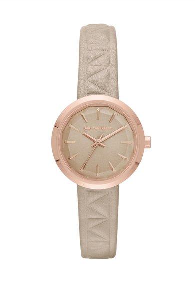 Karl Lagerfeld Ceas maro nisip cu auriu rose