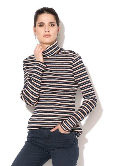 Bluza tricolora in dungi si cu guler inalt de la ESPRIT
