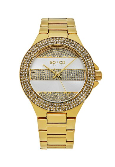 SO&CO New York Ceas auriu cu cristale SoHo