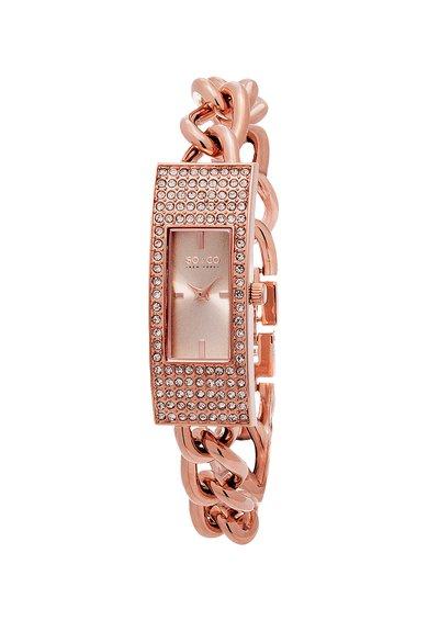 SOCO New York Ceas auriu rose cu cristale Madison