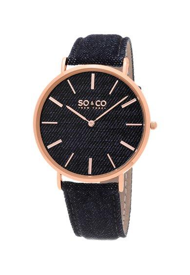 SOCO New York Ceas bleumarin cu aspect de denim SoHo