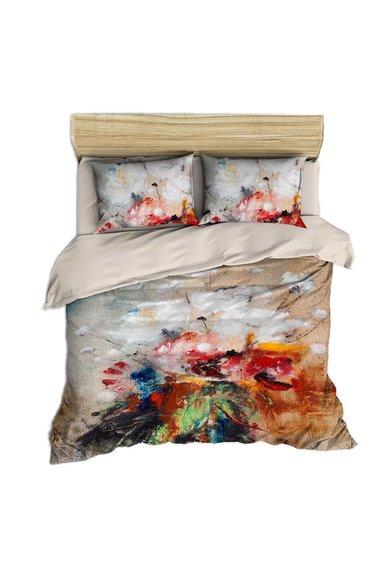 Set de pat multicolor cu imprimeu abstract de la Leunelle