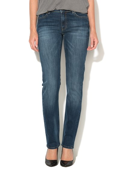 Big Star Jeansi conici slim fit albastri Monica