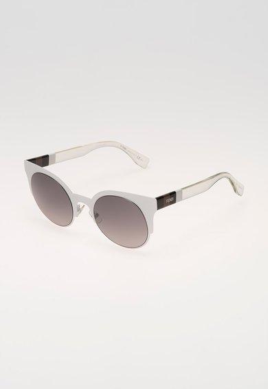 Fendi Ochelari de soare alb cu alb transparent