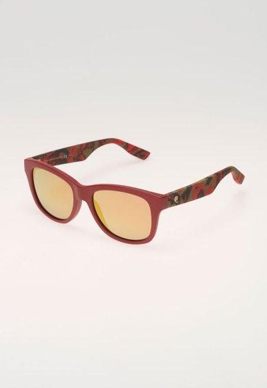 Mcq Alexander McQueen Ochelari de soare rosu mat cu imprimeu marmorat