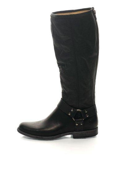 FashionDays.ro: Cizme harness negre de piele Phillip Frye