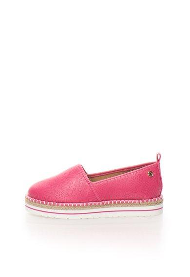 FashionDays.ro: Espadrile roz cu logo in relief Love Moschino