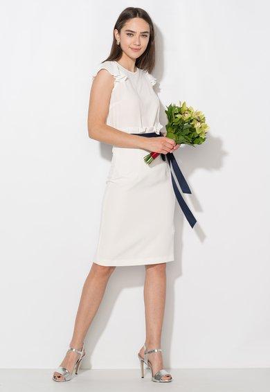 FashionDays.ro: Bluza semitransparenta alba vaporoasa Zee Lane Collection