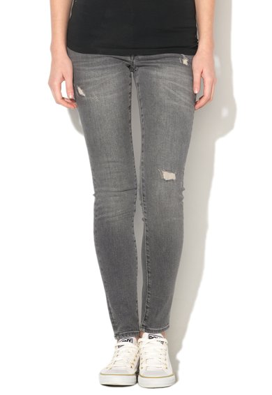 FashionDays.ro: Jeansi skinny gri cu aspect usor uzat EDC by ESPRIT