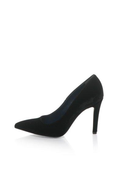Pantofi negri catifelati de la Zee Lane