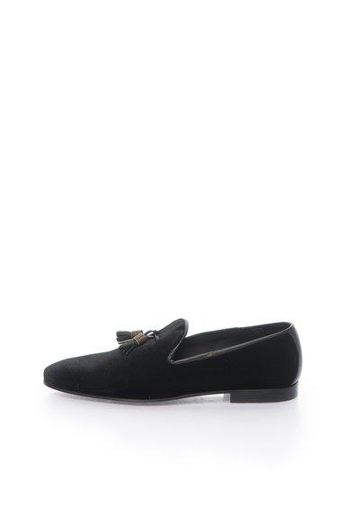 Pantofi loafer negri catifelati de la Zee Lane