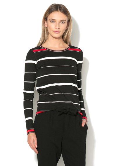 FashionDays.ro: Bluza neagra in dungi Silje Vero Moda