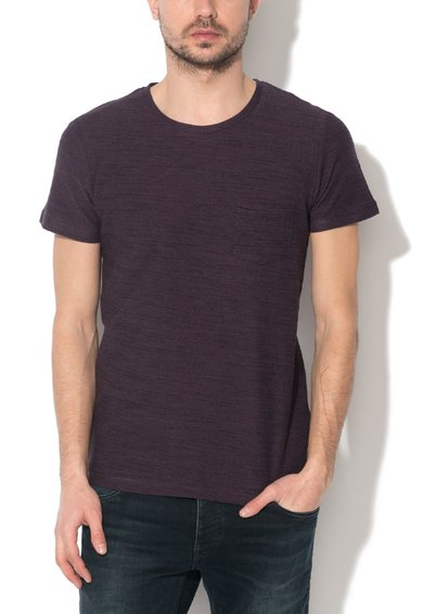 JackJones Tricou violet melange tricotat slim fit Loop