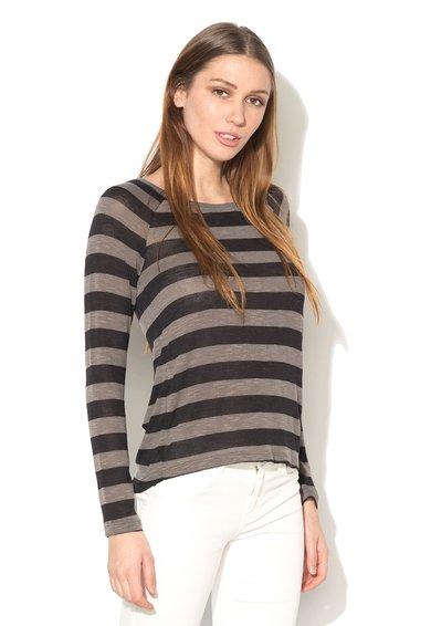 Only Bluza negru cu gri tricotata fin Kirsten