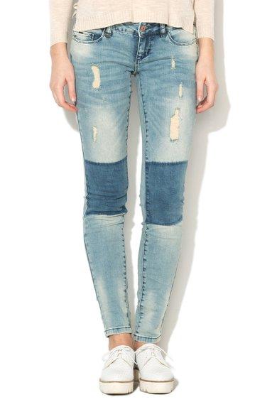 Only Jeansi skinny bleu cu aspect deteriorat Coral