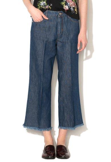 FashionDays.ro: Jeansi crop evazati albastri Orca Sportmax Code