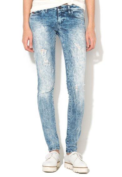 FashionDays.ro: Jeansi super slim fit skinny albastri Skinzee Diesel